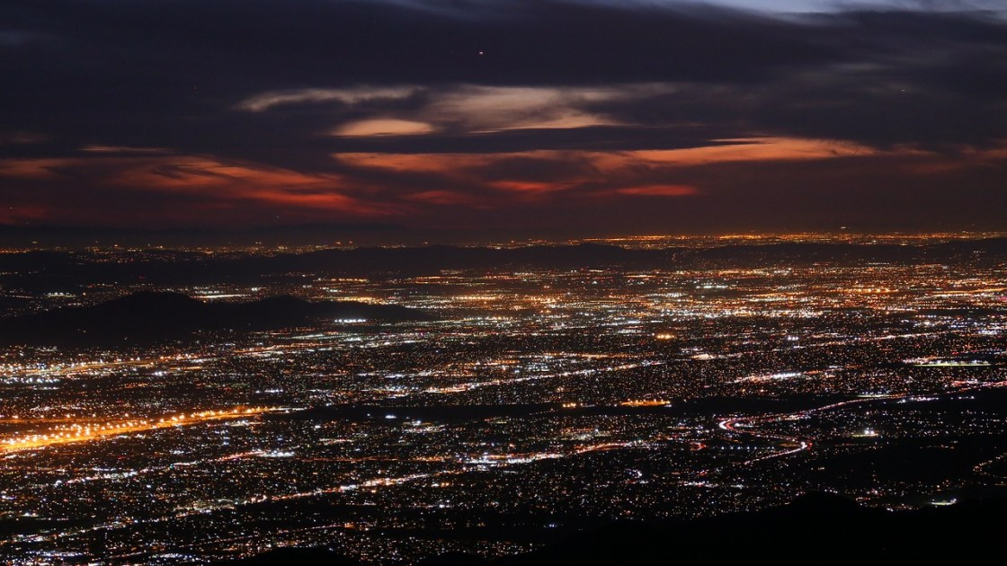 The Inland Empire as seen at night