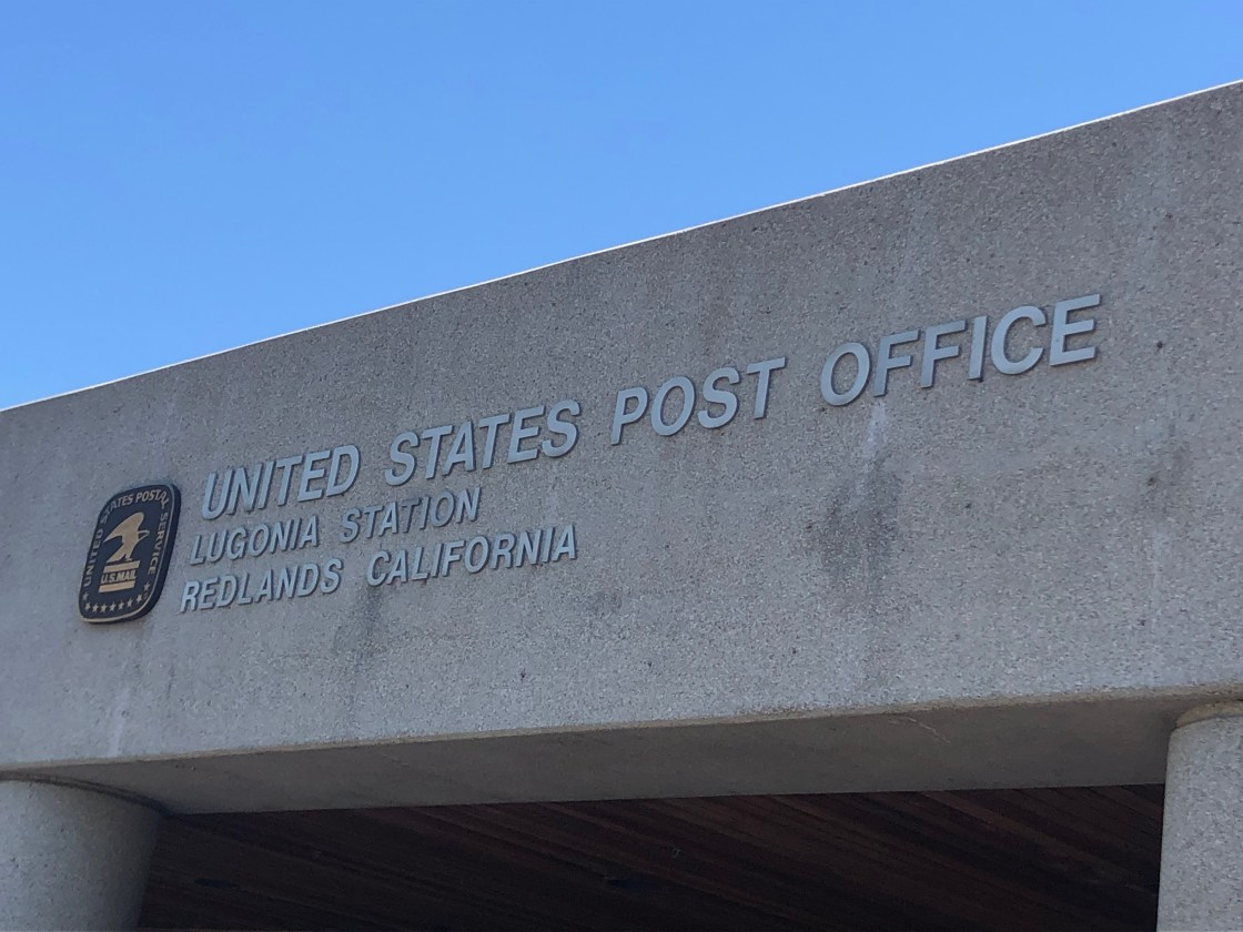 United States Post Office Lugonia Station Redlands