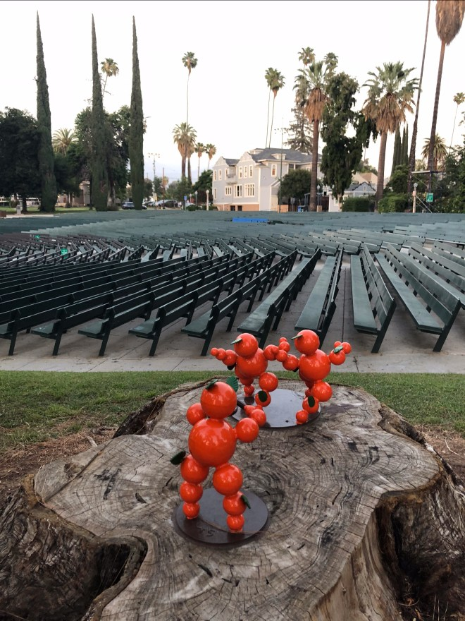 Orange statue at the Redlands Bowl