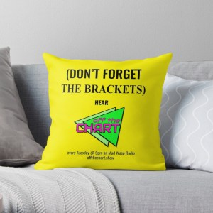 """(Don't forget the brackets)"" cushion"