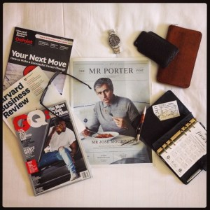 Travel with good friends Always be reading MrPorter RolexGMT Filofaxhellip
