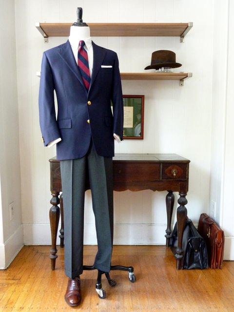 Classic Navy Blazer Look