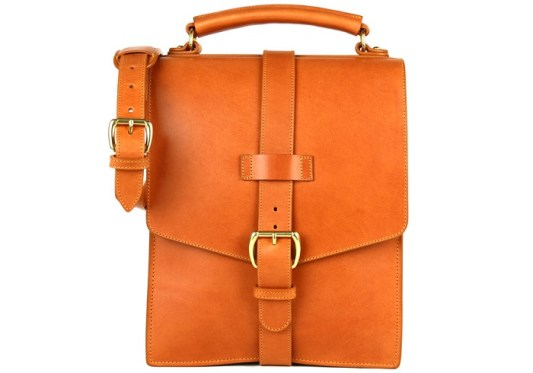 Frank Clegg Leather Buckle Satchel