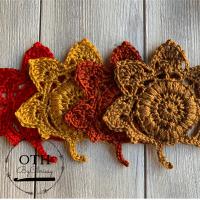 Fall Leaf Mug Rugs Easy Crochet Pattern