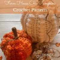 Farm House Chic Pumpkins Crochet Pattern