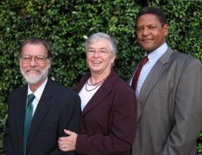 (l-r) Donald Cook, Deb Shafto, Alfred Molison