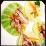 Juicy chicken lettuce wraps