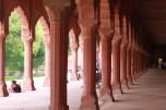A hallway in the garden of the Taj Mahal