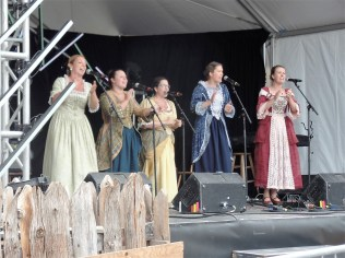 Onstage at the New France Festival