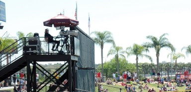Filming Phillies spring training