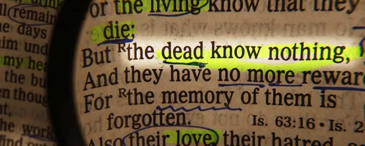 To be spiritually dead is to have turned away from goodness and love