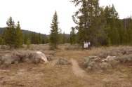 Start the hike out in the right spot! The trailhead is off a gravel road between miles 22 and 23 off US 191 (south of Big Sky).
