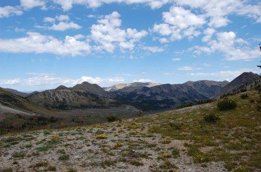 Facing north at the pass