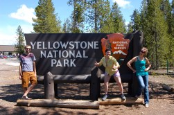 My friends at the West Yellowstone Entrance, Memorial Day