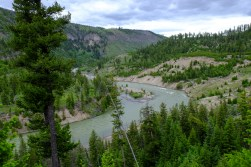 View of the Yellowstone River from camp