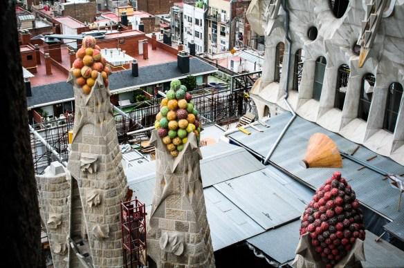 sagrada familia rooftop