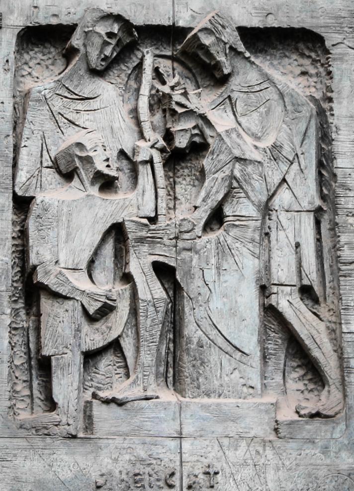 sagrada familia wall carving