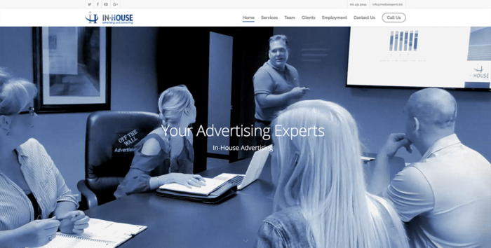 In-House Advertising | Websites | Off The Wall Advertising