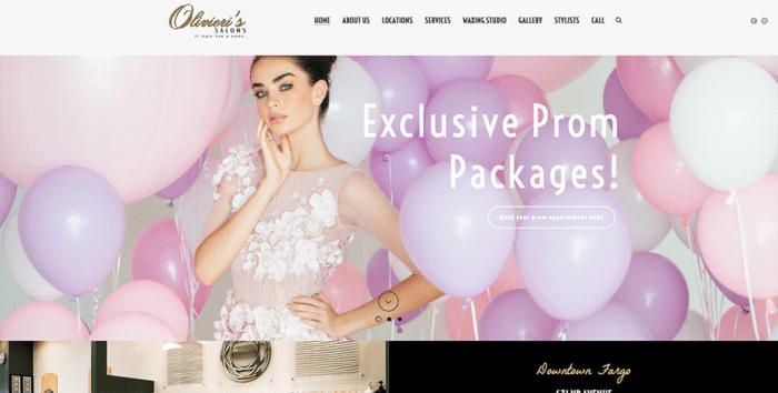 Olivieri's Salon | Websites | Off The Wall Advertising