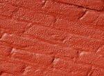 red brick wall slanted