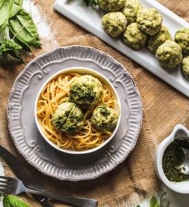 Pesto Chicken Meatballs-6