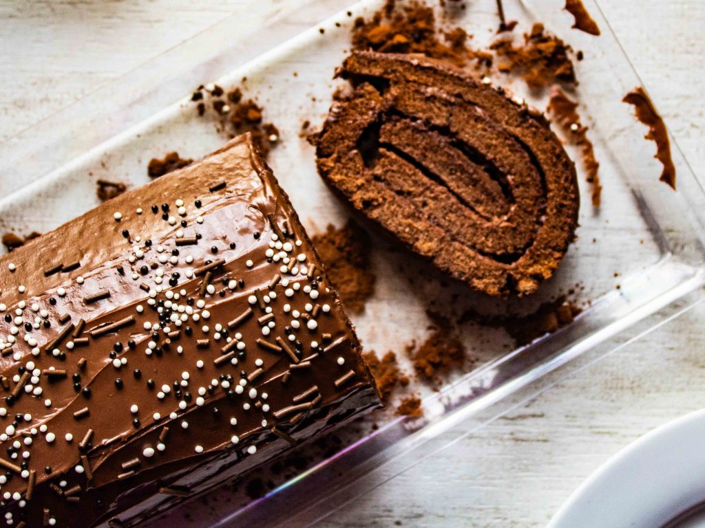 Gluten free Chocolate Nutella Swiss roll