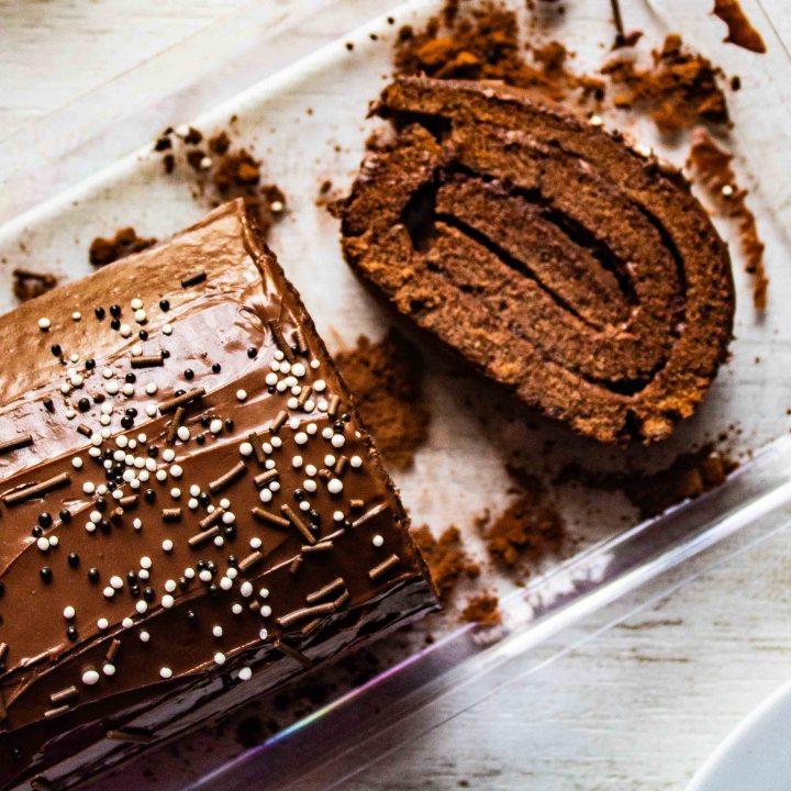 Chocolate Hazelnut Swiss Roll