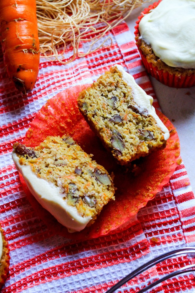 Carrot Cupcakes with Pecans