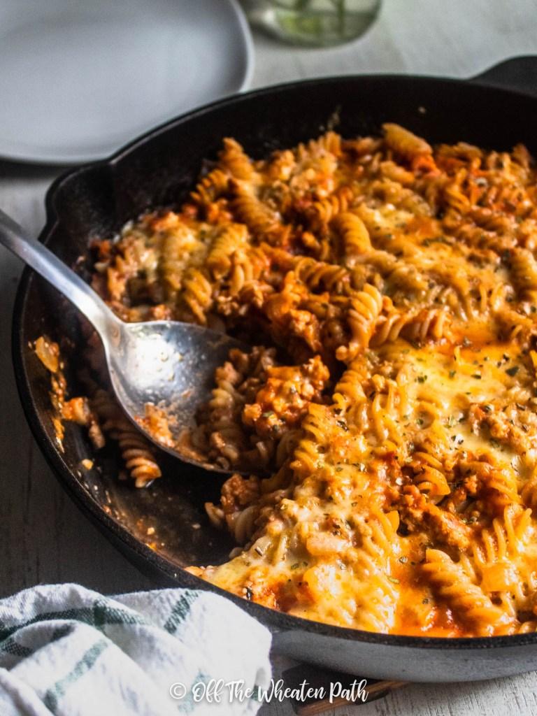 Easy Gluten Free Chicken Lasagna Skillet