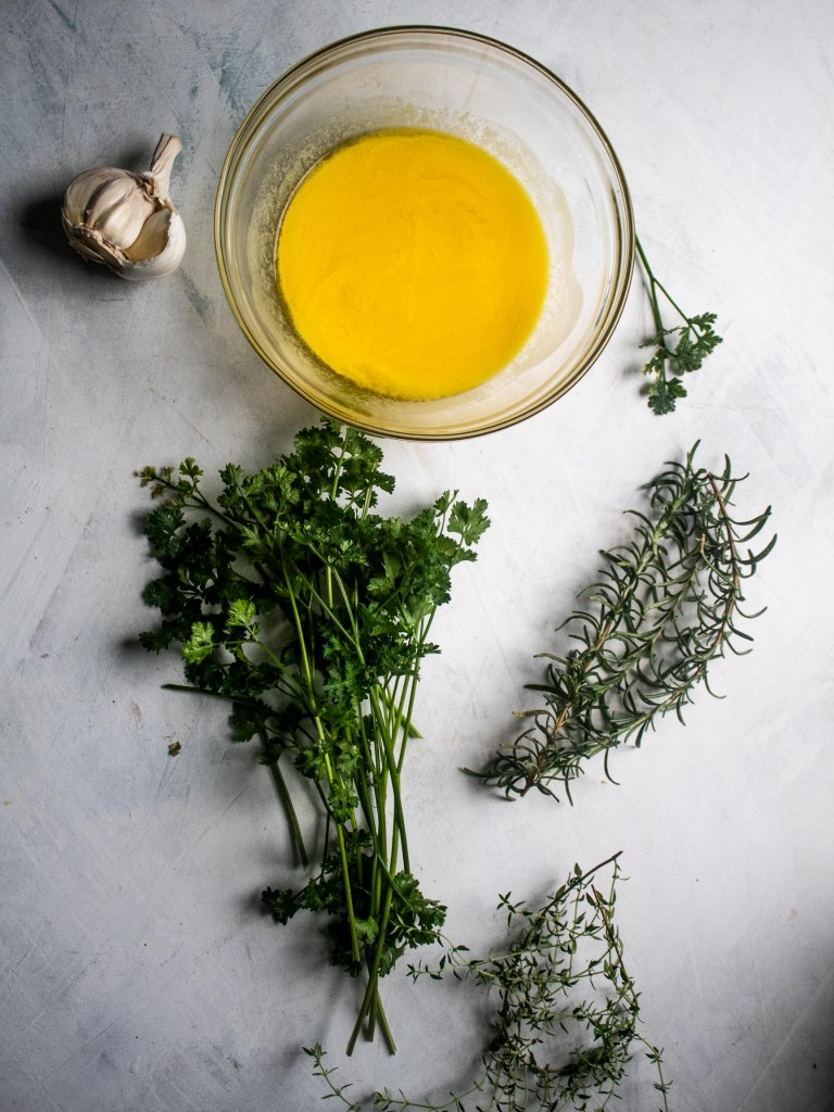 Herbs for garlic and herb skillet pork chops