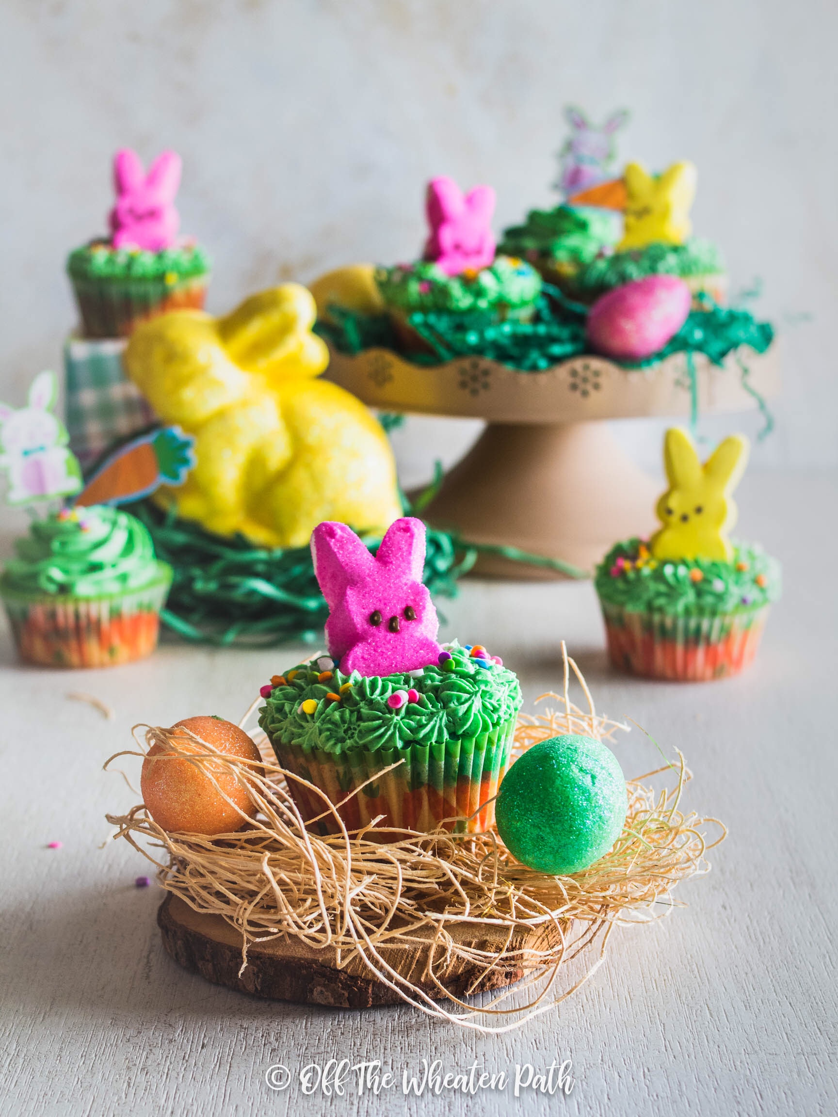 Stack of Easter Bunny Cupcakes