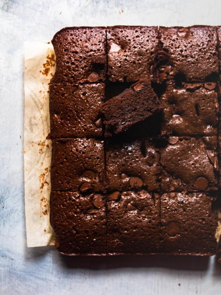 Flatlay Gluten Free Brownies