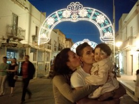 Arianna, Vito, and Bianca while walking around downtown.