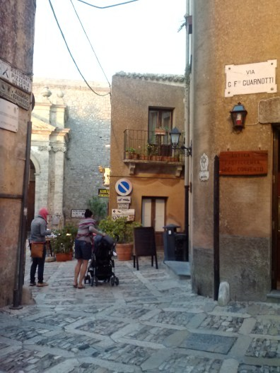 Walking through the streets of Erice.