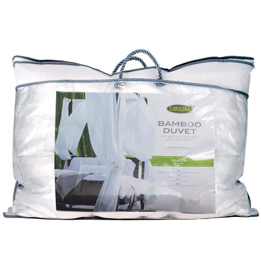 What goes into collecting the down or silk used for duvet fill? The story isn't pretty, but thankfully vegan bedding is a readily available option - like this bamboo duvet by Cariloha.