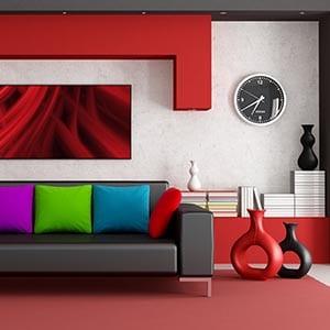 A Contemporary home decor style living room.