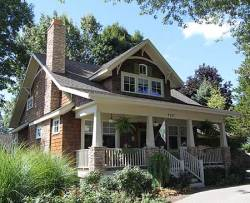 A Craftsman-style home that inspired my house design plans before I switched gears to a garage apartment.