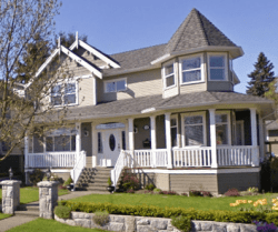 A Victorian-style home that inspired my house design plans before I switched gears to a garage apartment.