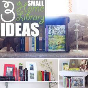 Small Home Library by Of Houses and Trees | Do you dream of a massive, multi-storied library? Me too! Do you have nowhere near the space? Me too. So try one of these small home library ideas instead.