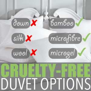 Cruelty-Free Duvet Options