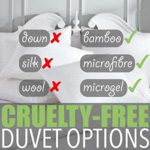 Cruelty-Free Duvet Options