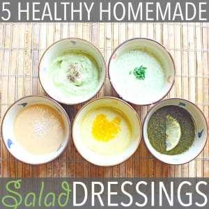 5 Healthy Homemade Salad Dressings