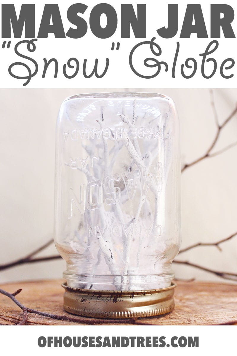"Mason Jar ""Snow"" Globe 
