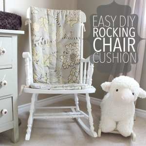 How To Make An Easy Diy Rocking Chair Cushion Of Houses