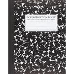 Green your school year by investing in eco-friendly school supplies such as this cleverly named decomposition book - made from 100% recycled materials.