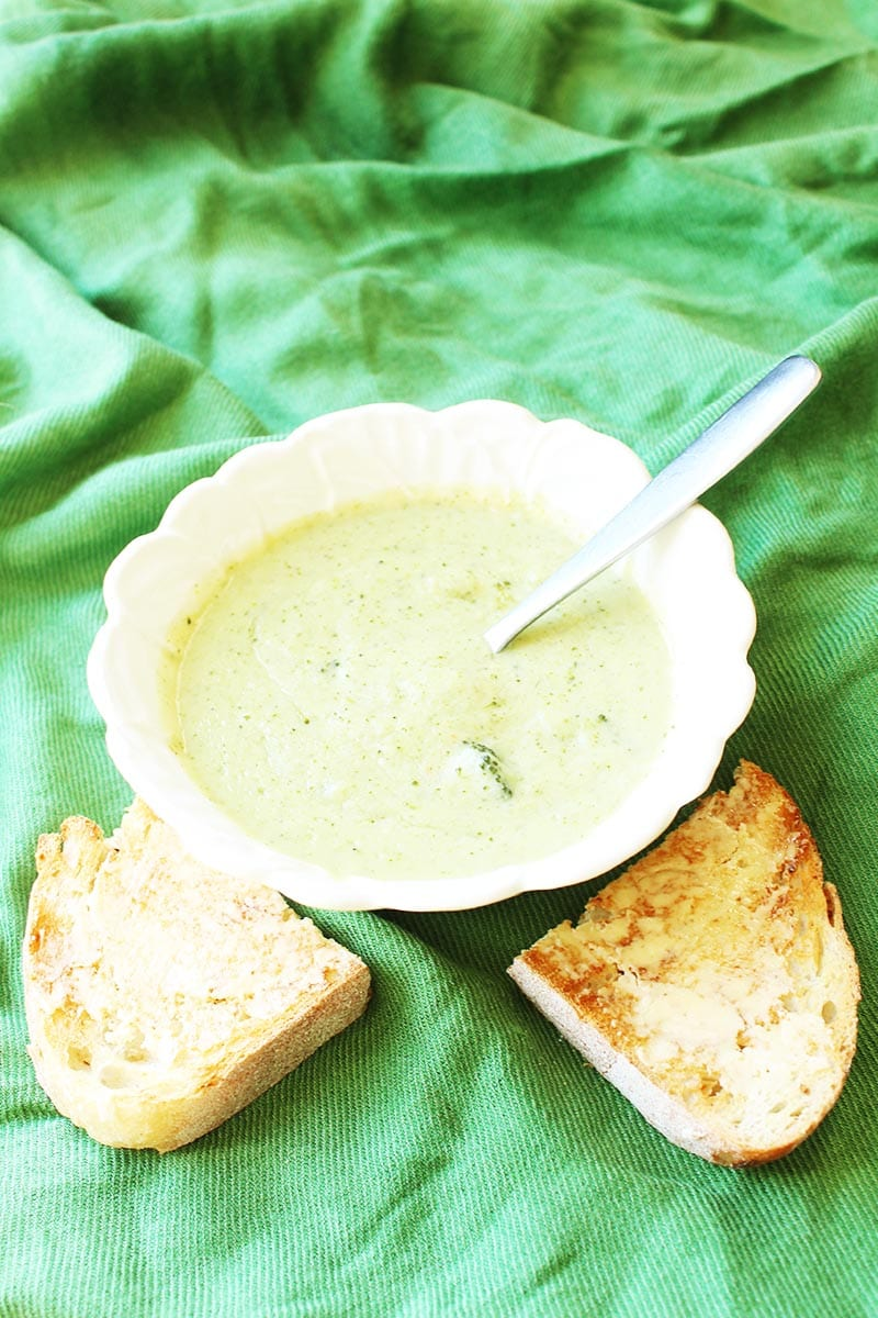 This easy-to-make Creamy Vegan Broccoli Soup is just one of many healthy, vegan lunch ideas - that both kids and adults will love!