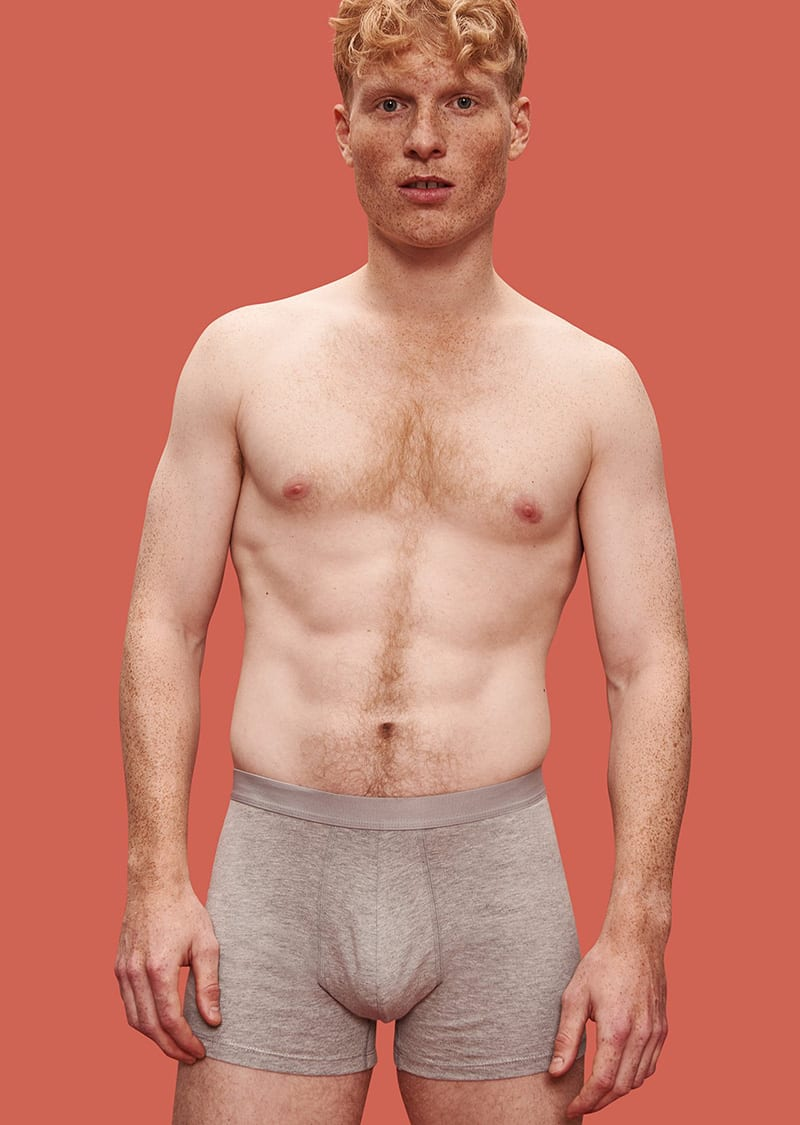 Not only is organic underwear good for your health, but it's also good for the environment. So grab a pair and slide 'em on. Like these organic cotton boxers by Organic Basics. Now, doesn't that feel nice?