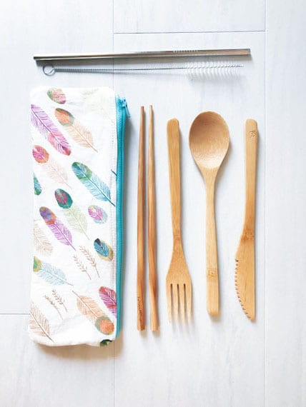 Zero waste travel is one of 10 current Pinterest trends that slant toward a truly inspiring ambition - being more green! Lessen your impact when travelling this wonderful world with a reusable cutlery set.