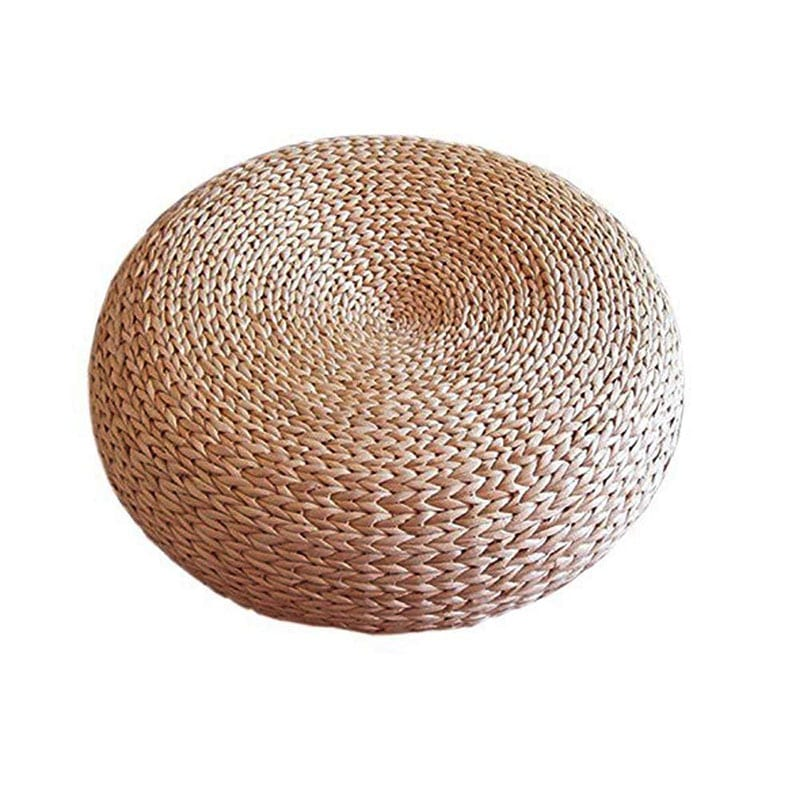 """Welcome to """"Green This Look,"""" where I show you how to create an eco-friendly living room and offer some bohemian decor ideas - that are great for any space! Like this handwoven straw pouf."""