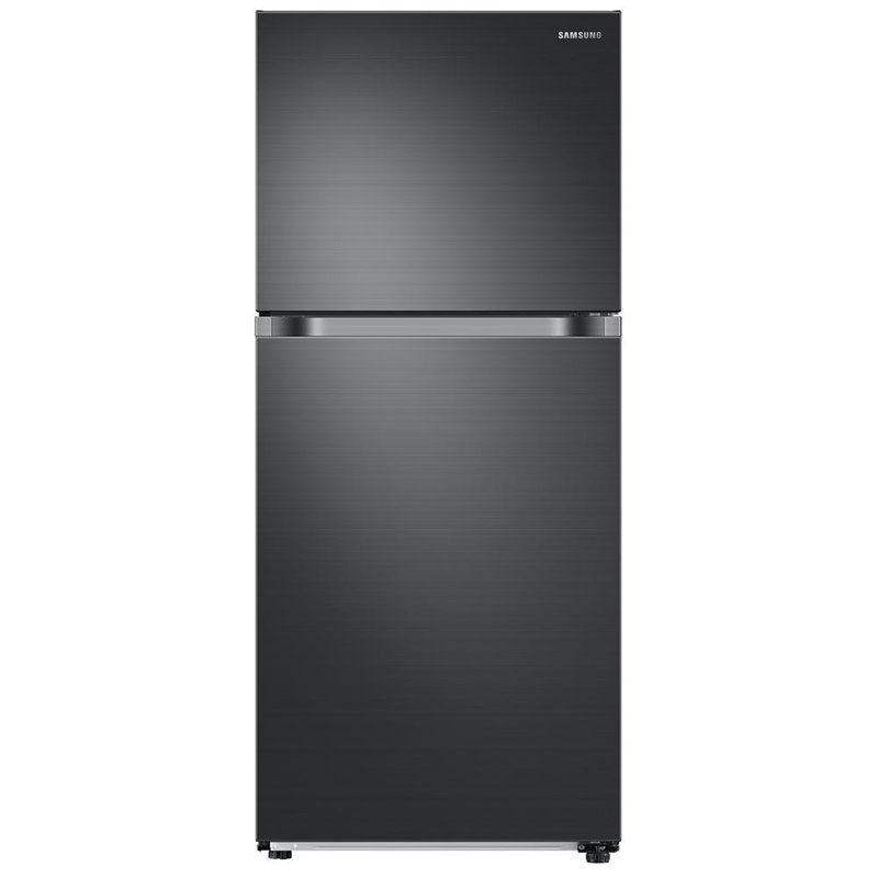 "What's an eco-conscious kitchen without an energy efficient fridge? This 29"" top freezer refrigerator by Samsung uses 448 kwH/yr."